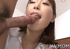 Asian nun goes lewd with hairy snatch