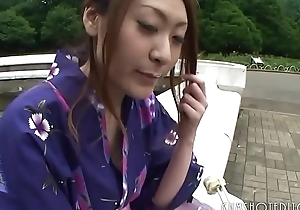 Hot Japanese Geisha Sucking Horseshit In A Public Toilet