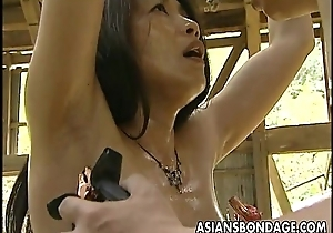 Asian bitch roped encircling so burnish apply man can fuck will not hear of