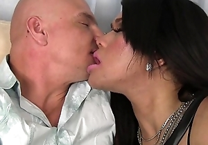 Assfucked asian tgirl wanks guy right side their way tits