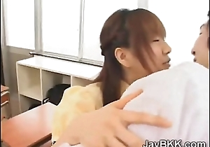 Natural schoolgirl from Japan tastes her teachers lawcourt