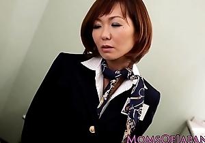 Sayuri Kotose anal solo toy plays at bottom toilet
