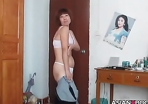 Asian of age striptease