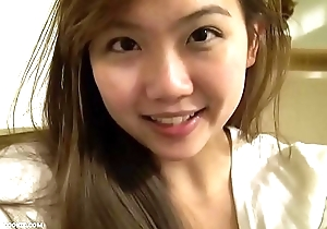 Perfect dominate asian teen on good terms with toys