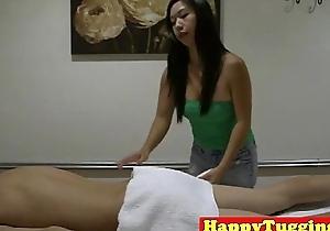 Spycam asian masseuse pulling cock