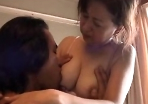 Lovely Japanese mummy help her son to be content (part 2/3)