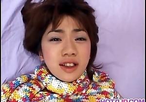 Koyuki enjoying her new dildo on cam