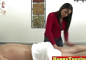 Real asian masseuse jerks customer