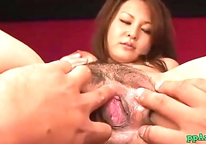 Busty Asian Girl Getting Her Tits Rubbed Hairy Pussy Licked And Fingered Hard by 2 Gu