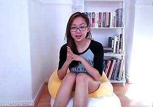 Super cute vlog wide of her bookcase