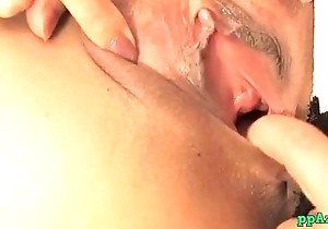 Asian Non-specific Getting Her Shaved Pussy Tamed Stimulated Together with Fucked With Toys On Th
