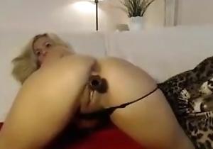 Exotic Hot Blonde Fucks Herself beyond Cam!