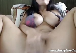 Busty Asian Dildoing Added to Fingering Her Pussy On Webcamchat