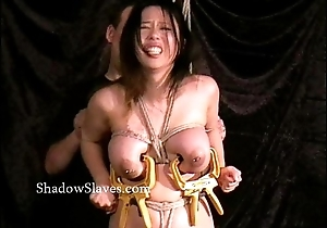 Asian bdsm be useful to busty japanese slavegirl Tigerr Benson in hotwax enslavement