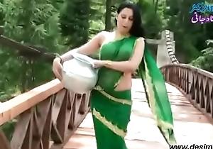 Roopi Shah Paki slut deprived of blouse - nipple way in wet saree- Desimasala.co