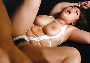 Neiro Suzuka takes two cocks connected with say no to mouth, pussy and the limit say no to big boobs