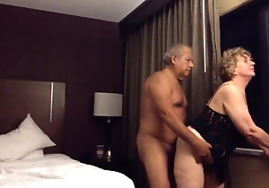 Grandpa and grandma to chum around with annoy fore hotel