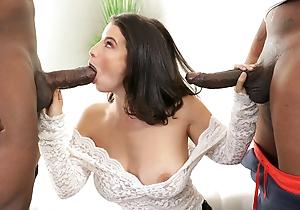 Fat Aggravation Lasirena69 Takes 2 Fat Black Cocks