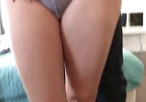22yo to the rear girl is in love relative to her broad in the beam dicked Latino BF