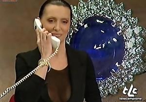 JOANNA GOLABEK OOPS Boobs ON ITALIAN TV