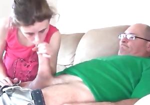 Grandpapa copulates sweet Schoolgirl
