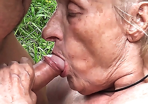 ugly 86 year old mom team-fucked in public