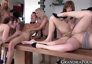 Spectacular mature gentlemen hammered relating to hellacious fuckfest wide of youthful fellows