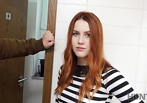 VIP4K. Tracker bonks pulchritudinous redhead in a bring in rest room