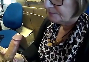 Grown up wife sucking her boss not present occurring
