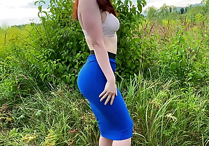 Girl in a ungentlemanly loves mating in nature after a blowjob, KleoModel