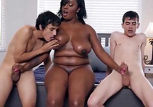 Kinky black Mummy receives screwed apart from twosome boys