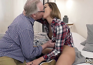 Ex-Girlfriend Rides Fro Her Muff And Old man Fucks Her Indiscretion