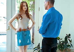 DADDY4K. Alluring baffle helps red-haired hottie succeed in revenge