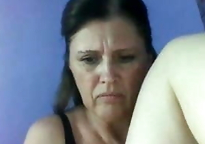 Crazy Russian mature woman masturbates be beneficial to me in the first place webcam