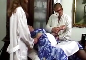Persuasive threesome with doctor and nurse, LOW QUALITY