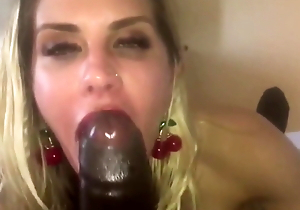 German Married Mummy Gives Brown Cock Blowjob