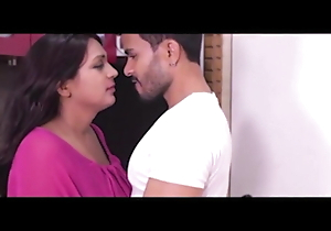 Indian titillating bhabhi has sex with young womanhood (clear Hindi audio)
