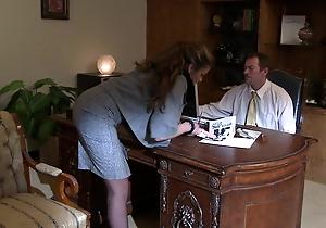 Pulchritudinous business woman is very demanding