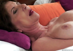 Horny granny gets her hairless hole nailed on touching bbc