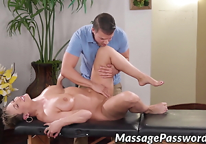 Adorable MILF Ryan Keely gets sticky cum at hand will not hear of succulent bowels