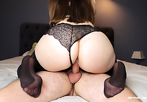 Fucked in rub-down the mouth plus miserly twat – my teacher in nylons