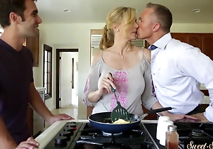 gratified mummy group-fucked wide of her stepson
