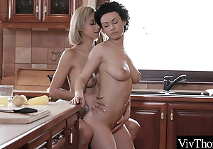 Gorgeous added to busty lesbian lovers strike at on all occasions other's hot love tunnels