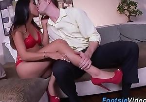 Asian babes feet cumshot