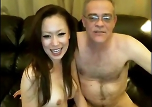 Dad and Chinese Girl on Webcam