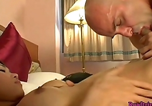 Honcho tgirl pleasured unconnected with her lover