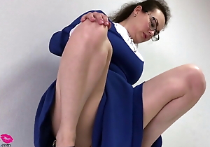 Russian instructor railing sex toy check tick off ache instructor day