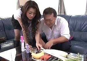 41Ticket - Sayuri Shiraishi Filled to Veggies n Dick (Uncensored JAV)