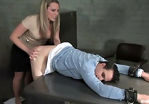 An angry big gun pegs her worker