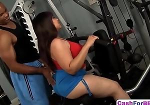 Asian BBW Twilight Starr Gets Juicy Cunt Brim With Meaty Black Cock